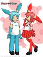 Plusle and Minun by Digiko