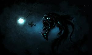 Demon fish by JustV23