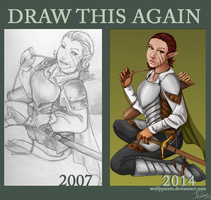 Draw this again meme by Wolfypaints