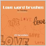 Love word brushes by stardixa-resources