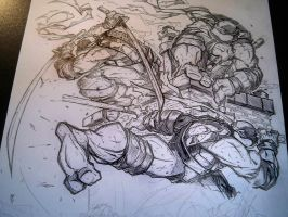 Morning Sketch - TMNT WIP 04 by RobDuenas