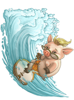 Banjo Pig Sizzlin' Bacon by WilsonWJr