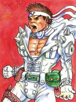 Sketchcard Cyberbots Jin Saotome by fedde