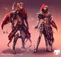 Commission Custom Concept Design : Arabian Armors by KodamaCreative