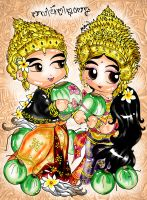 The coconut wedding by art-rinay