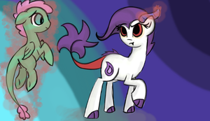 Mirage and Cotton Fluff by Yombatable