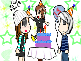 Happy Birthday Katie and Do 8D by DaLittLeFreak