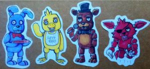 Five nights at Freddy's stickers by WolfLinkByDarkEco