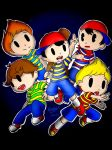 EarthBound: Strips Shirt Boys by DeathPuppy9000