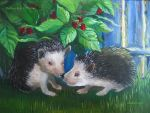 Two Hedgehogs by Redilion