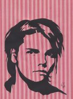 Gerard Way paper cut out by sashabrambleshadow