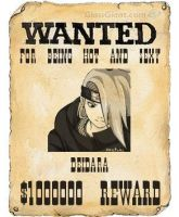 Deidara Wanted Poster by NintendoGal55