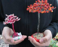Wire tree size comparison by HollieBollie