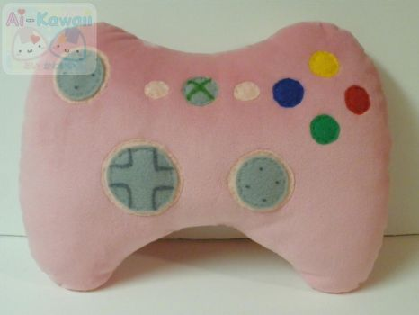 Xbox Pink Game Controller Pilow by LiLMoon