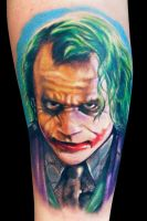 Heath Ledger Joker by maximolutztattoo