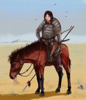 Mongol woman-warrior by ShWaK