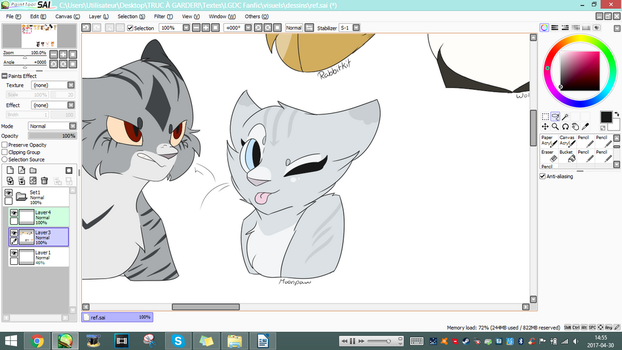 Working on designs for my fanfic by Glarua