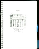 The University of Virginia Rotunda Elevation by Rayleighev