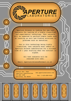 Aperture Poster, orange by LightningPhoenix
