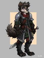 Cassidy - Female Wolf Knight by TheLivingShadow