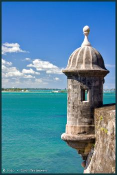 Old San Juan Turret by Vamppy