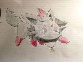 Me as a Zorua coloured by Car-lover33