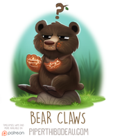 Daily Paint 1588. Bear Claws by Cryptid-Creations