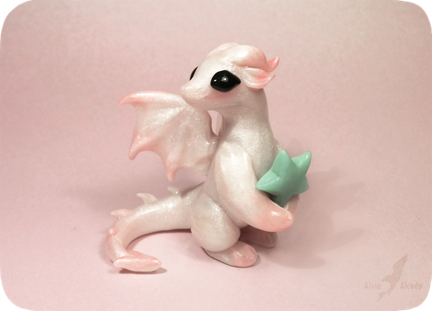 Little pearl dragon +[star glows in dark] by AlviaAlcedo