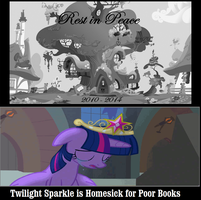 Twilight Sparkle is Homesick For Poor Books by newsuperdannyzx