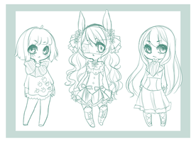 Chibi Sketch Commissions: (2) by mint-muffin