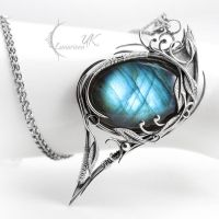 LYTHERNIALL - silver and labradorite by LUNARIEEN