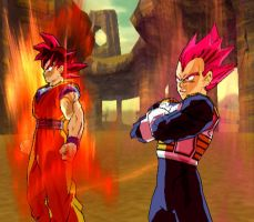 The Saiyan God Duo by Nassif9000