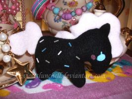 Black pony brooch by VioletLunchell