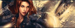 Black Widow Facebook Cover by The-Potara-Fusion