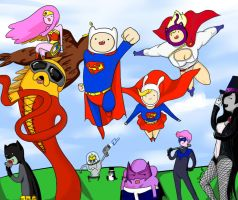 dc super heroes TIME by TiaAnthy