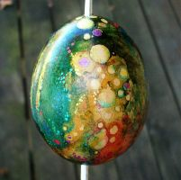 Hand Painted Egg Ornament 2 by MandarinMoon