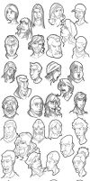 FaceSketchesCompilation 01 by TheKad