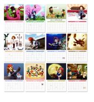 Johnny Depp Cartoon Calendar 2012 by amoykid