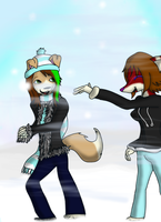 Request: Snowball Fight by AutumnLubbsTheLulz