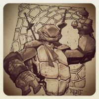 TMNT :: Leonardo Sketch by Red-J