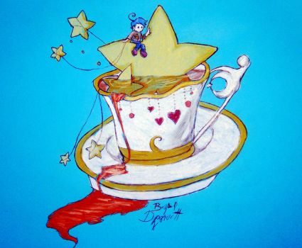 Teacup and stars by RoryDjoghurtt