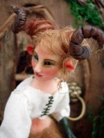 Faun Sculpture by cldart