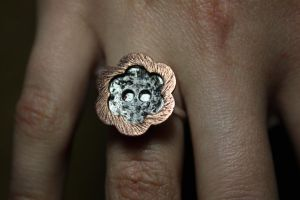 Button Ring by AcaciaArtist