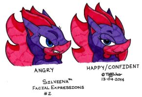 Silveena Facial Expressions 2 by trinityweiss