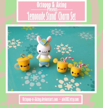 Lemonade Stand Charm Set by Octopop-n-Aicing