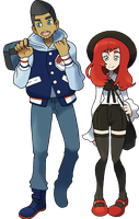 1st Gen Rival: Azul and Scarlet by NachtBeirmann