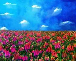 A World of Tulips by rabbitica