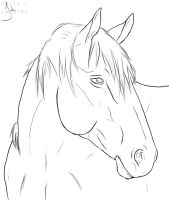 Horse Lineart by Lambidy