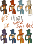 Vote for Layton! ~Potential Smash Palettes by MaxieMarauder