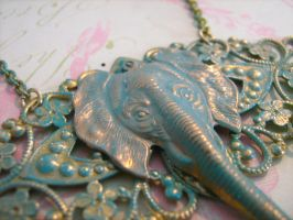Patina Elephant by LaTaupinette